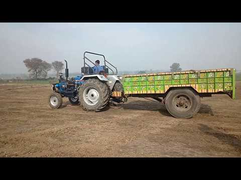 Tractor Torlly Back Raceing In Powertrac Euro 50 Performance