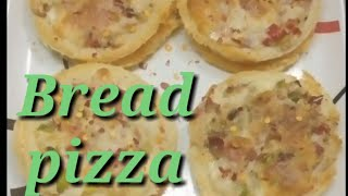 Bread pizza recipe Bread mini pizzaBread snacks ..by-- Saroj Soni