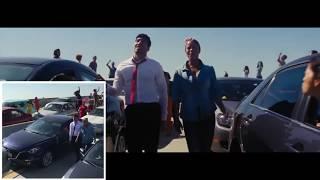 Как снимали начальный эпизод в фильме La La Land. Съемка одним проходом камеры.