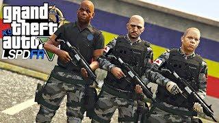 GTA V : MOD POLICIA - MEGA PATRULHAMENTO COM A EQUIPE DA ROTAM MG! O CRIME VAI ACABAR! - EP.232