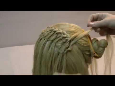 Смотреть красивую прическу из волос.Smotret krasyvuyu prychesku of hair