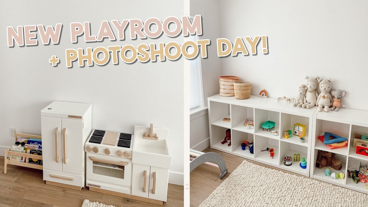 setting up a playroom for our baby! + photoshoot behind the scenes