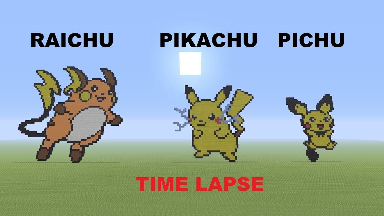 Time Lapse Raichu Pikachu Pichu Minecraft Ps4