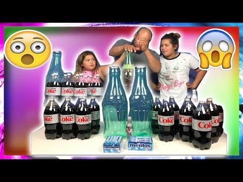 GIANT COCA COLA VS MENTOS IN THE HOUSE - DIET COKE VS MENTOS