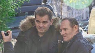 EXCLUSIVE : Clovis Cornillac arriving at RTL radio station in Paris