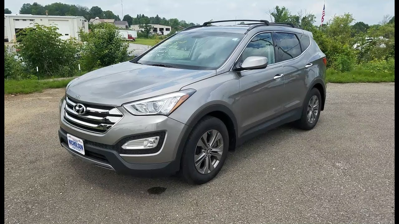 2014 hyundai santa fe sport 2 4l awd start up tour and one take review youtube. Black Bedroom Furniture Sets. Home Design Ideas