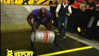 Titus O'Neil Trips & Falls During The NXT Keg Carry Challenge