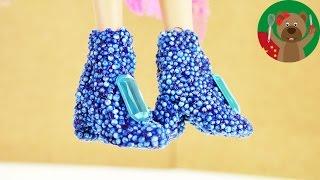 DIY 手工 制作 Barbie芭比 娃娃 自制 可爱 裙子 晚礼服 粘土 橡皮泥 高跟鞋 水晶  鞋子 靴子 模仿 展示