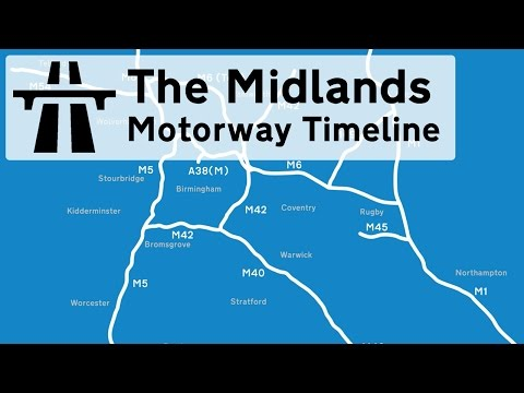 The timeline of the midland's motorway construction