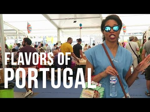 Quick Visit To An Outdoor Food Market in Lisbon, Portugal