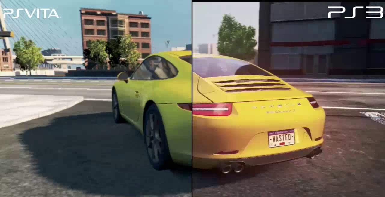 need for speed most wanted 2012 ps3 vs ps vita tv hd. Black Bedroom Furniture Sets. Home Design Ideas