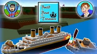 COLLIDING WITH THE OLYMPIC! | Roblox Build A Boat For Treasure With Jesse Gillett