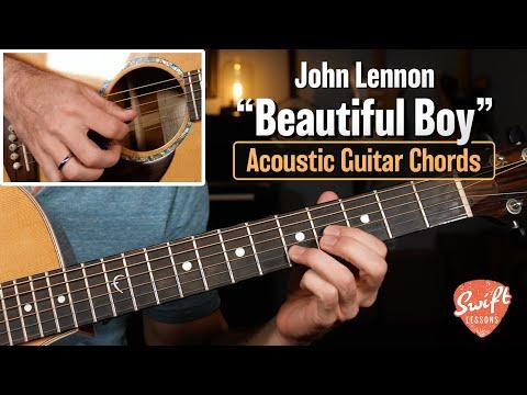 "John Lennon ""Beautiful Boy"" - Easy Guitar Songs - Cover w/ Chords!"