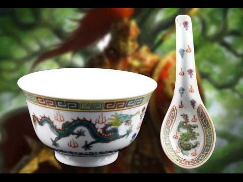 Chinese Antiques white Porcelain Bowl Hand Painted Dragon