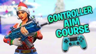 Insane Aim Course pour les joueurs de contrôleur! Cours d'échauffement (Fortnite Console PS4/Xbox)