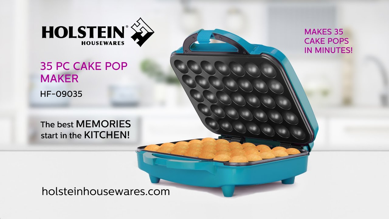 hf 09035 35pc cake pop maker holstein housewares youtube. Black Bedroom Furniture Sets. Home Design Ideas