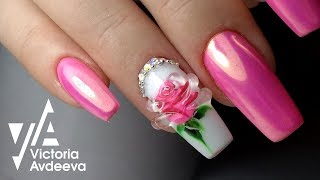 Урок Экспресс Дизай Ногтей Хрустальная Роза | ТОП удивителные дизайны ногтей