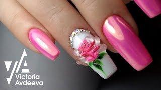 Урок Экспресс Дизай Ногтей Хрустальная Роза   ТОП удивителные дизайны ногтей