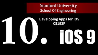 Stanford iOS 9 - Lecture 10.  Core Data
