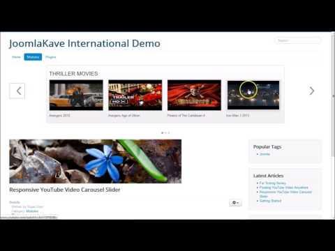Responsive YouTube Video Carousel Slider - JoomlaKave