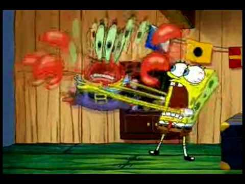 Image result for spongebob chokes mr krabs