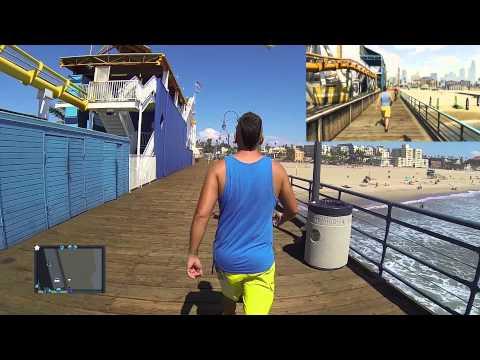 REAL GTA 5: chko @ Vespucci Beach aka Venice Beach Santa Monica Pier