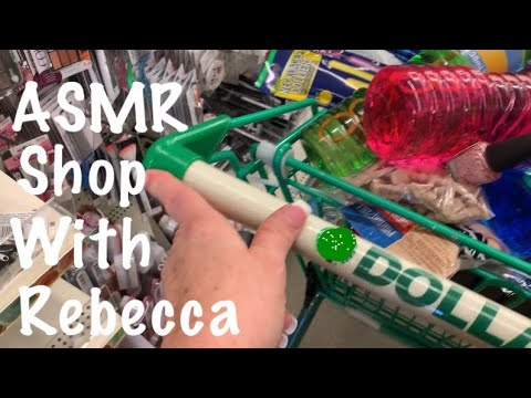 ASMR Request/Shopping Dollar Tree 🌳/Lots of Crinkles/Treasure Box (No talking)