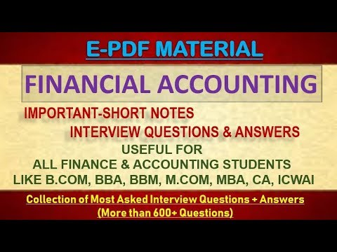 FINANCIAL ACCOUNTING INTERVIEW QUESTIONS & ANSWERS