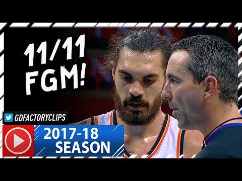 steven-adams-full-career-high-highlights-vs-timberwolves-20171201-27-pts-11-11-fgm