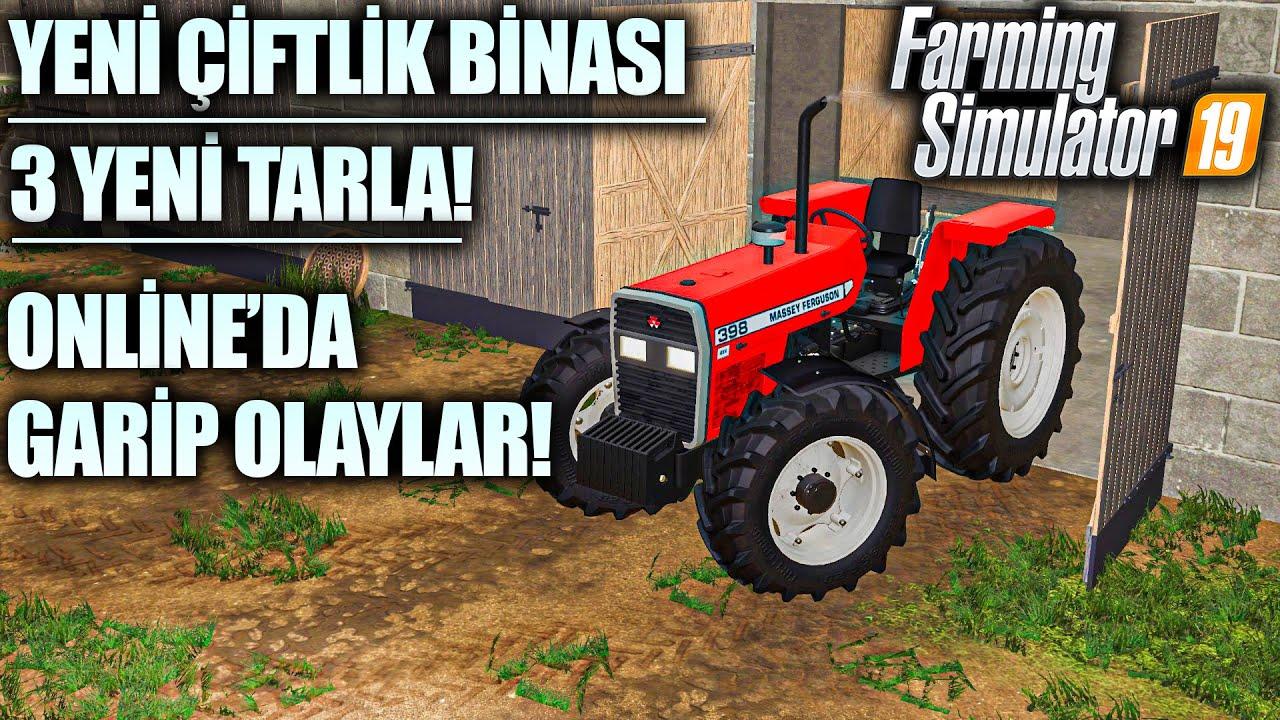KÖY'DE GARİP GARİP ŞEYLER OLUYOR! HARMANDAYIZ! // FARMING SIMULATOR 2019
