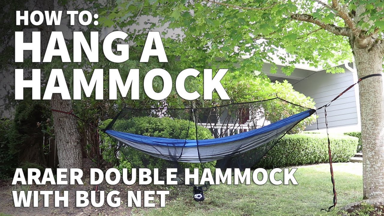 How To Hang A Hammock With Bug Net U2013 How To Set Up A Hammock With Straps    Araer Hammock