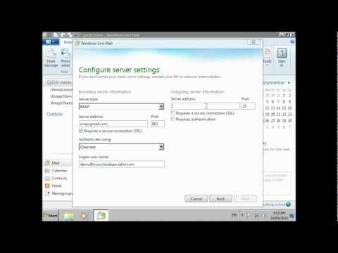 Setup Gmail (or Google Apps) Email on PC with Windows Live Mail 2012