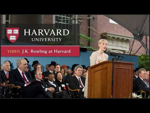 J.K. Rowling Harvard Commencement Speech | Harvard Universit