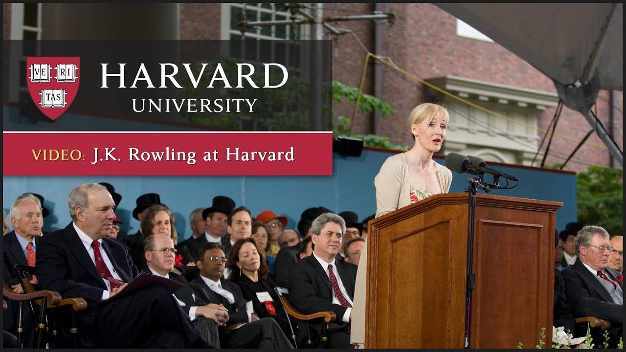 Text of J K  Rowling's speech – Harvard Gazette