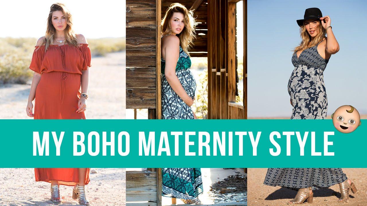 985bd31a2a My Boho Maternity Style - YouTube