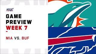 Miami Dolphins vs Buffalo Bills week 7