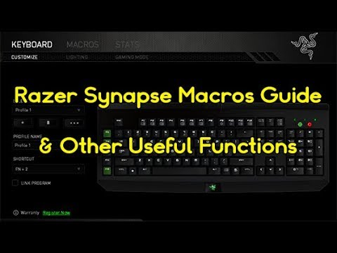 Razer Synapse Macros Guide, Useful Functions