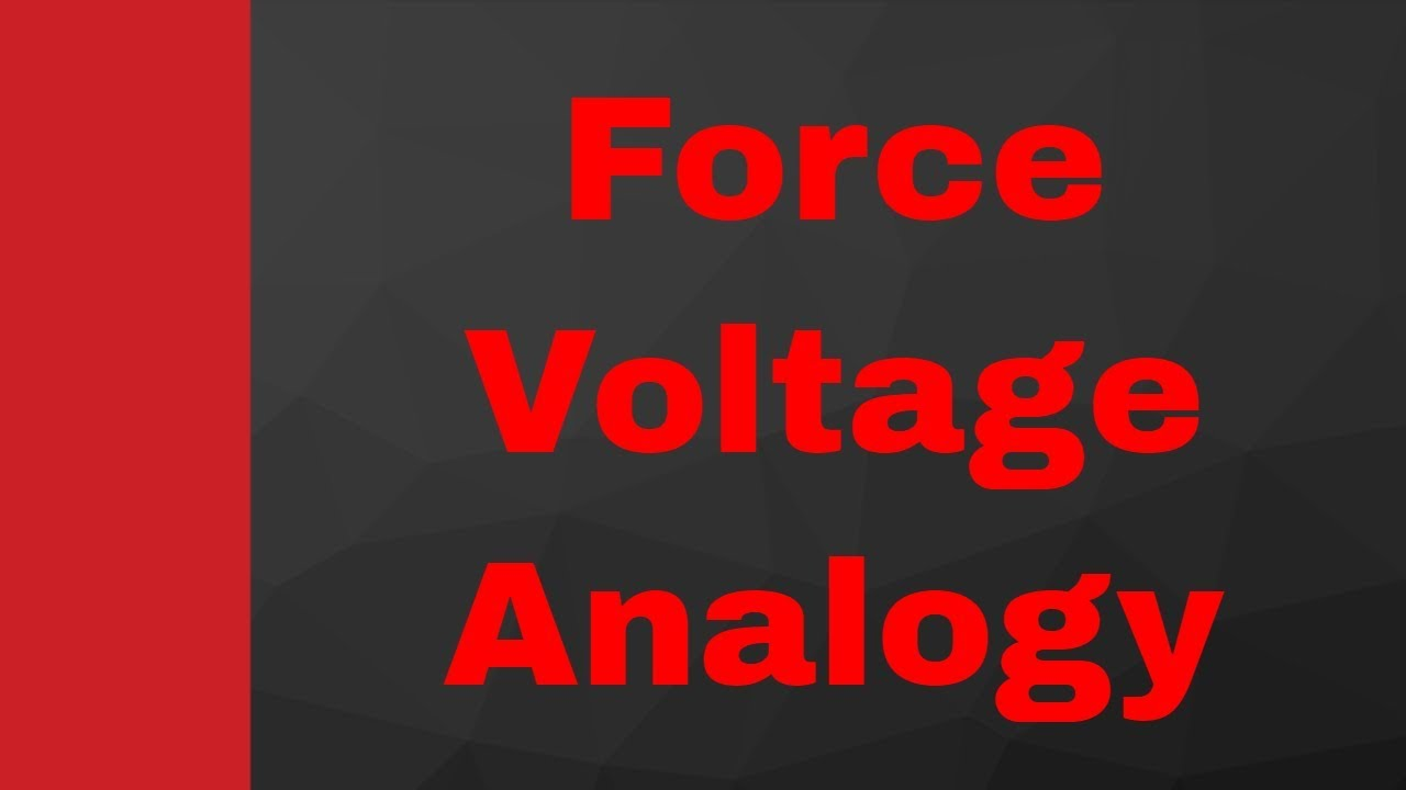 Force Voltage Analogy in Control Engineering by Engineering Funda ...