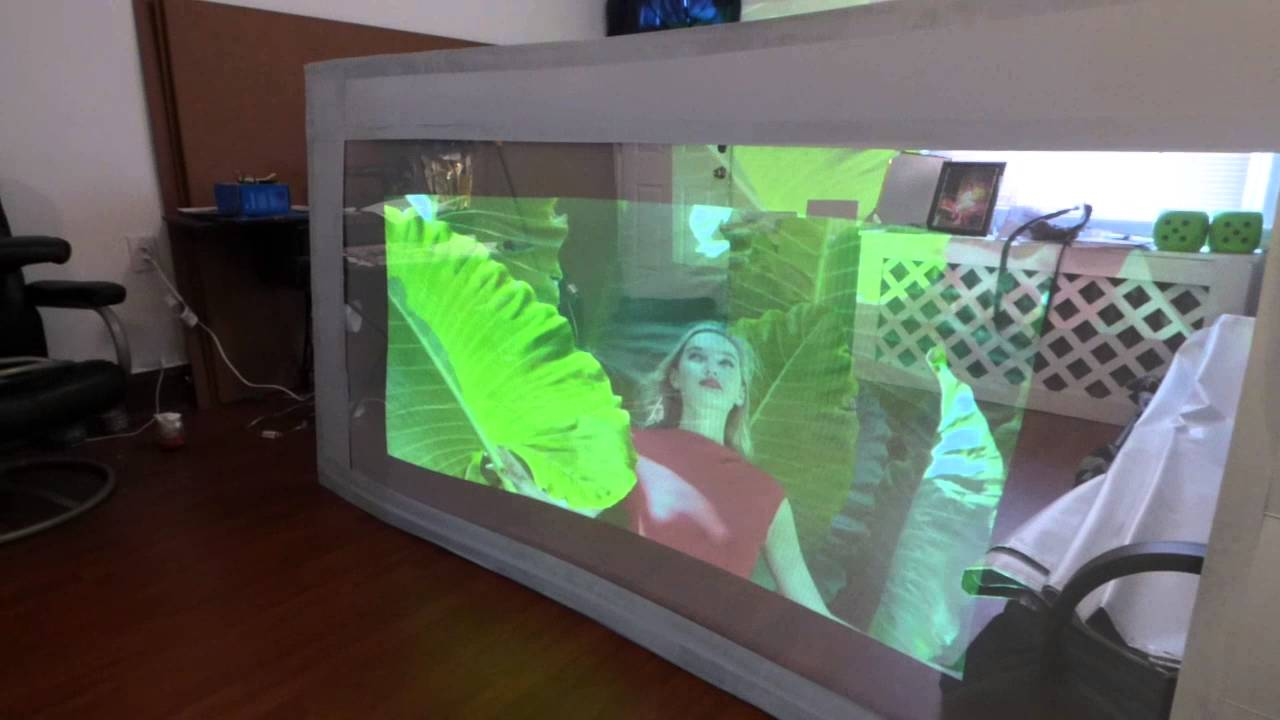 LIGHT PASS THROUGH 3D INVISIBLE PROJECTOR SCREEN - YouTube