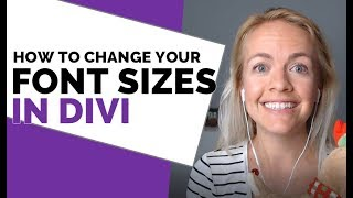 How to change theme font sizes in Divi