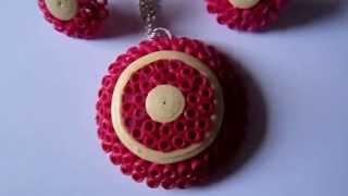 Handmade Jewelry - Paper Quilling Set (Not Tutorial)