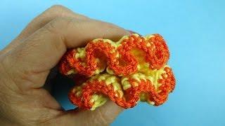 Как вязать резинку для волос Crochet ribbon