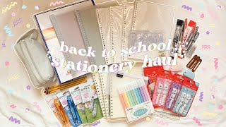 aesthetic back to school stationery haul ✨🖋 school stationery essentials 🌈