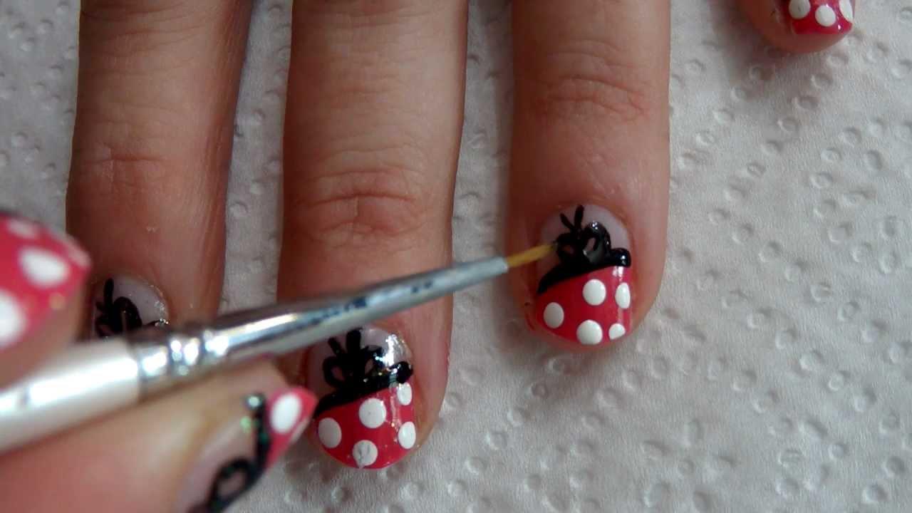 Tutorial uñas decoradas (Nail art) en vídeo Nº28 Uñas Lolita.MP4 ...