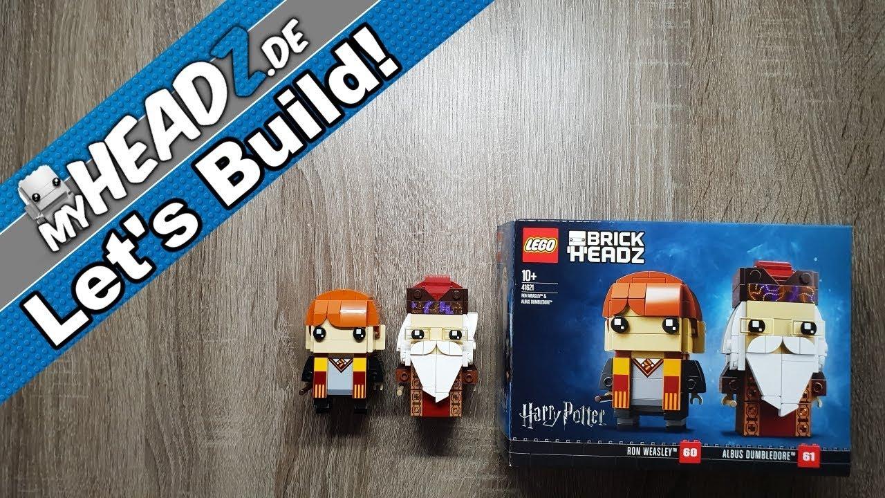 LEGO 41621 BrickHeadz Ron Weasley /& Albus Dumbledore 60 /& 61 Harry Potter
