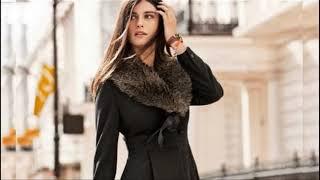 Женские зимние пальто 2018, женские драповые пальто, зимнее пальто с мехом
