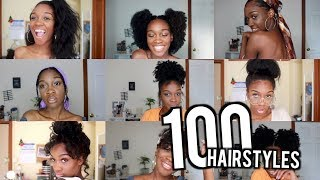 100 EASY NATURAL HAIRSTYLES!! | Angelique Brown