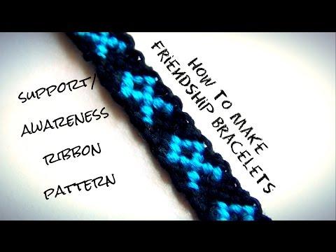How To Make Friendship Bracelets ♥ Support / Awareness Ribbon Pattern