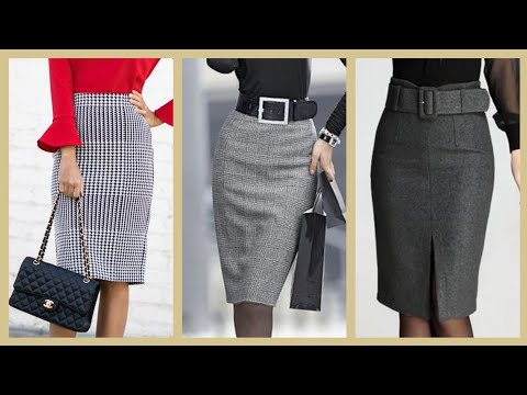 Daily Office Work Wear Women Elegant Skirts Design And Ideas Wear With Jacket Dress Slim Fit Dresses