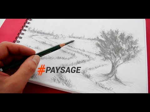Comment Dessiner Un Paysage Au Crayon Simplement Youtube